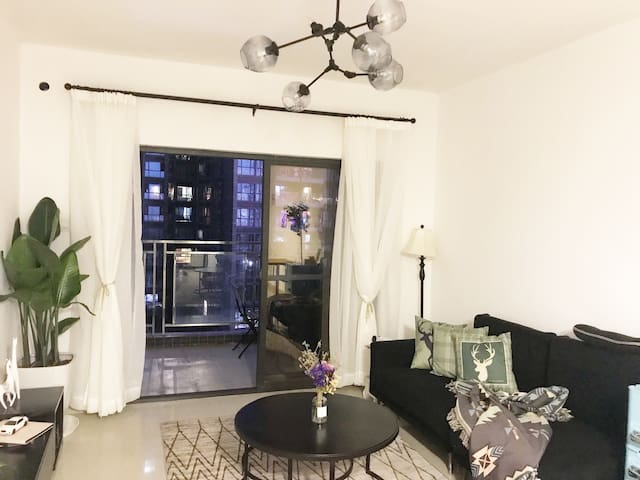 80平大一房【Queen's Home】【简欧-纯白-投影】深圳地标京基100公寓 kkmall楼上