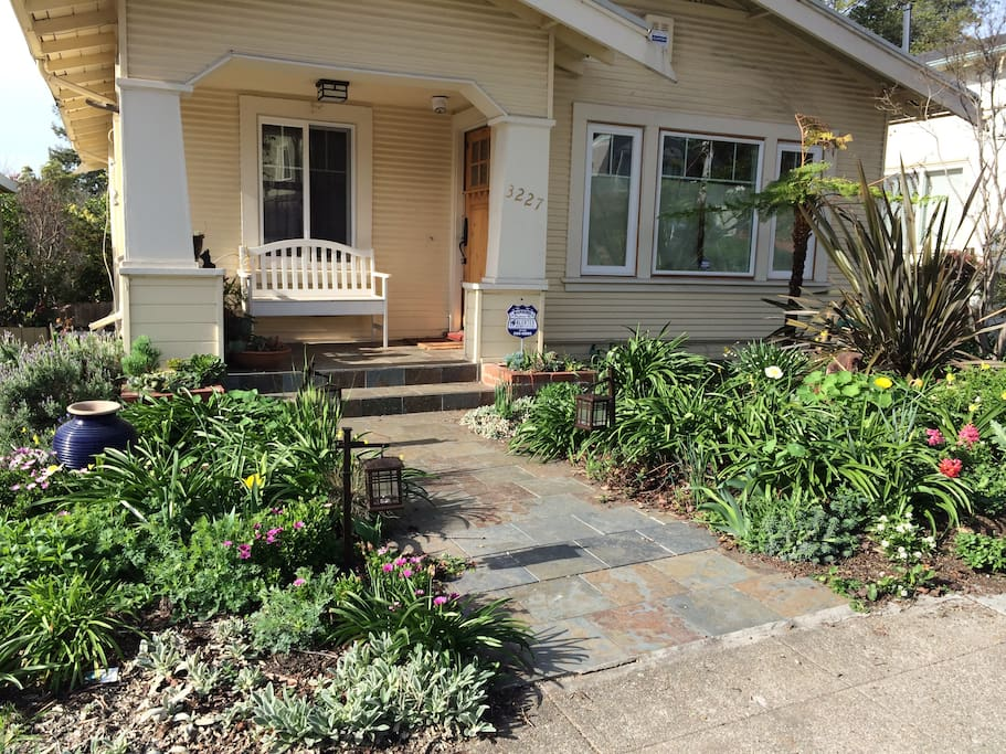 Front of house and garden.