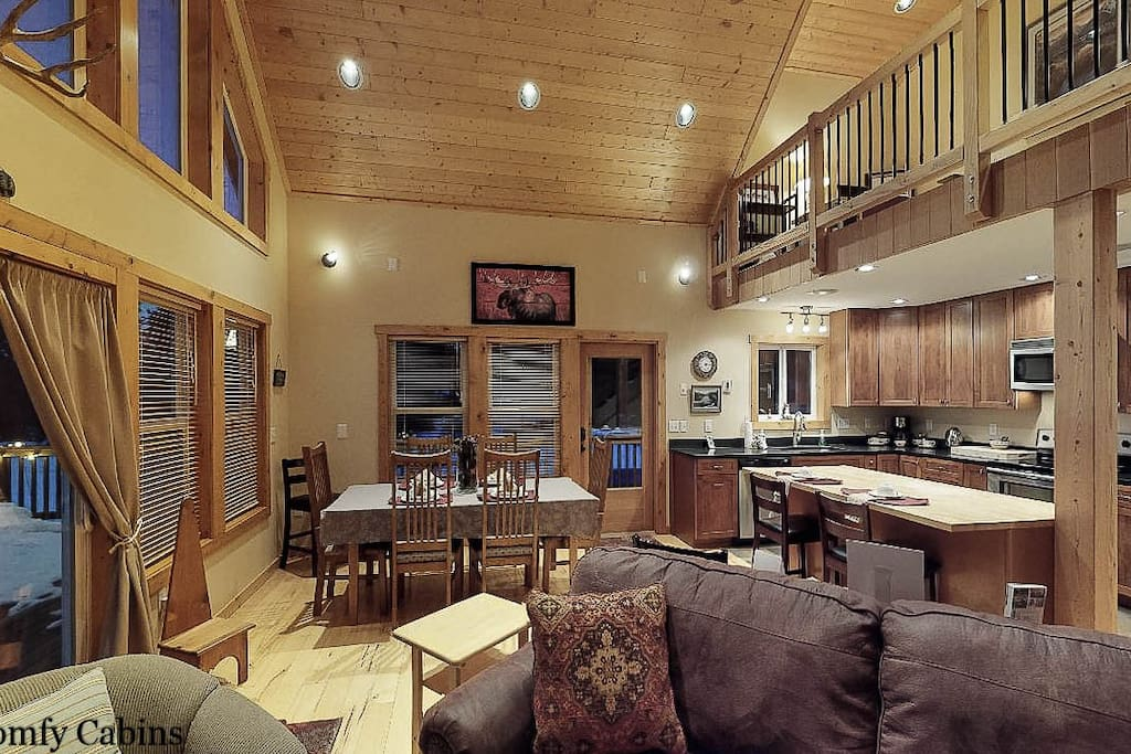 Open concept and high ceilings so everyone can be engaged