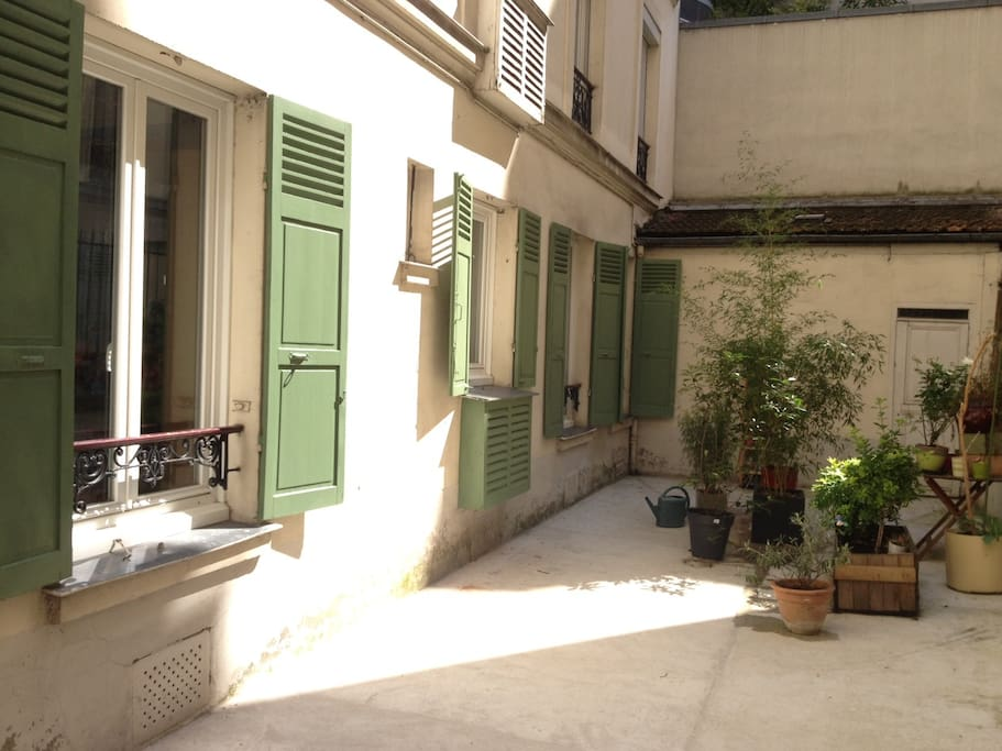 our small courtyard