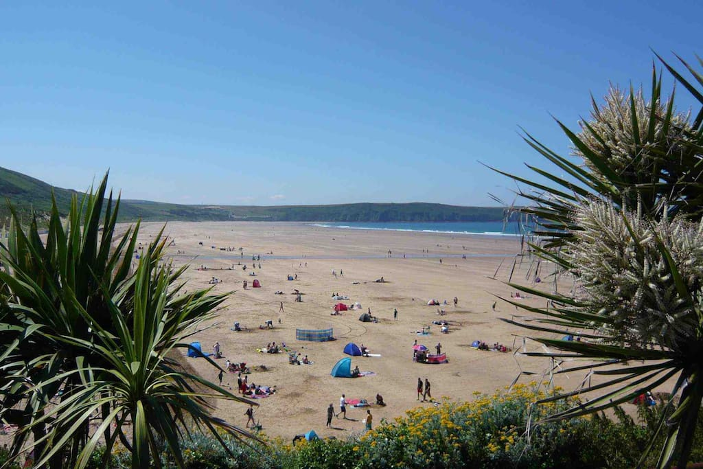Woolacombe Bay - 3 miles of golden sand and great surf.