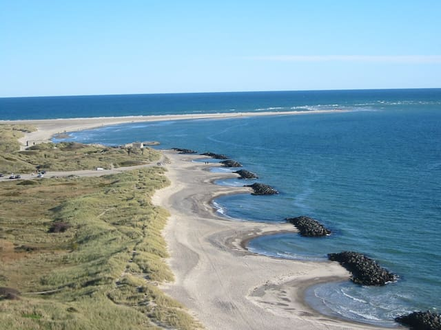 The very northern tip of Denmark - the place where the two oceans meet