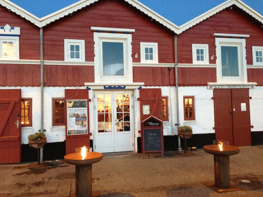 Superb dinning at the old traditional Skagen Fish Restaurant
