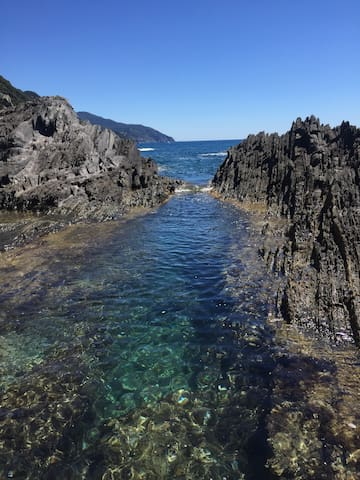 la piscinetta nelle Cinque Terre
