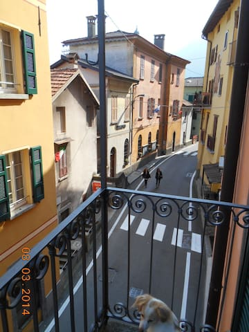 Balcony on the typical and quite village centre