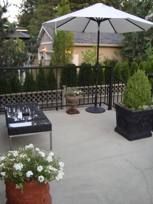 Gorgeous outdoor patio with bbq