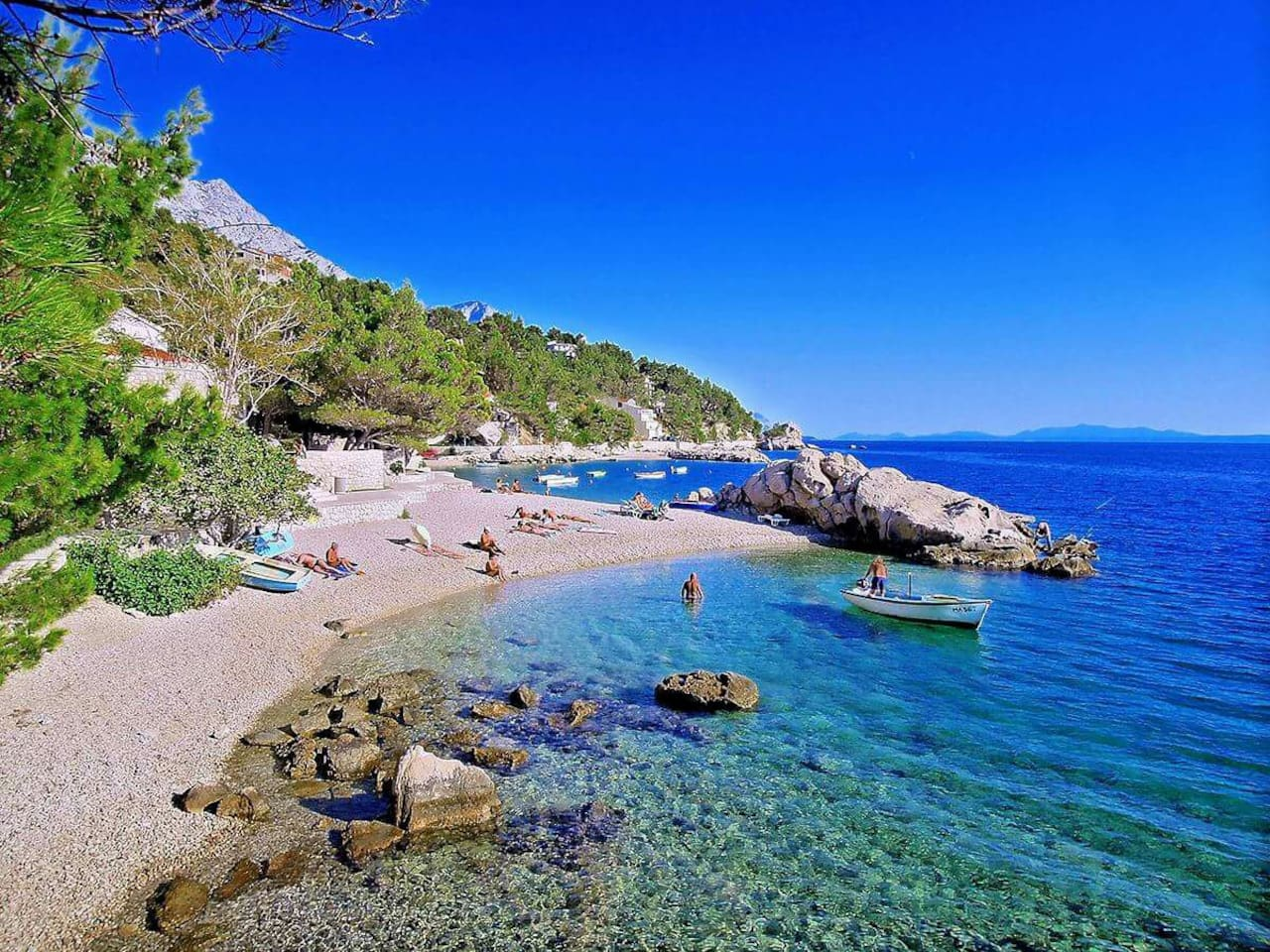 Beach under our house 2 min away by foot  jelena.ursic@outlook.com