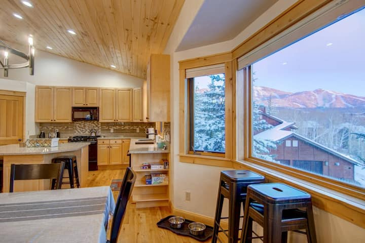 Newly Listed Dog-Friendly Duplex w/Spectacular Views, Private Shuttle/Entrance, Garage, Deck, Patio