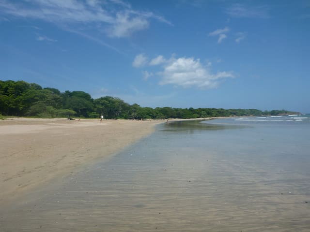 Take an early morning beach stroll at Playa Grande