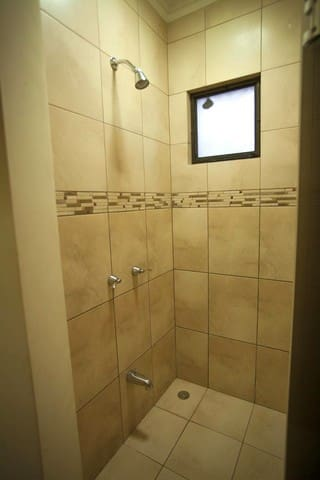 Oversized walk-in shower