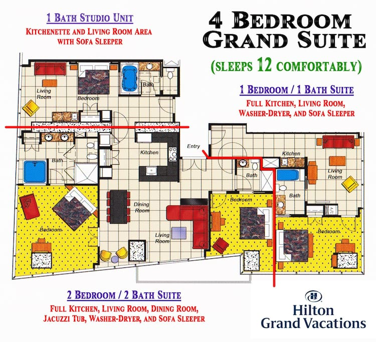 4 Bedroom Grand Suite Flats For In Las Vegas Nevada United States