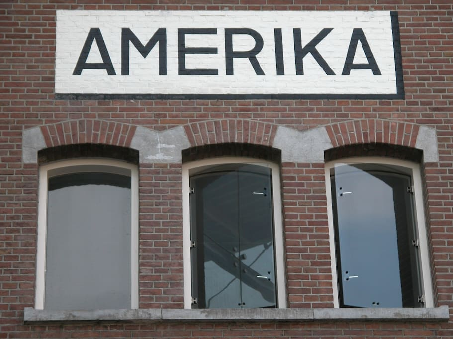 "The apartment is located in the ""Amerika"" part of the former warehouse"