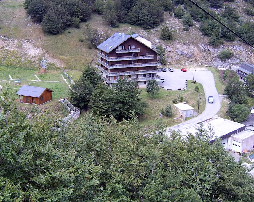 Ski lift also operates during French summer holidays for good walks. Large parking area.