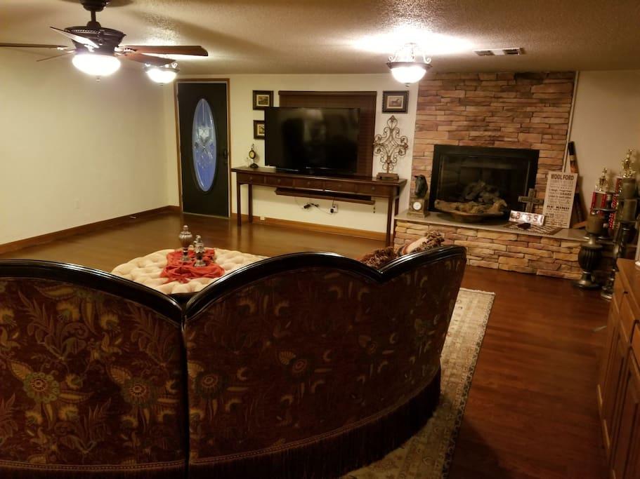 Smart tv in living area.