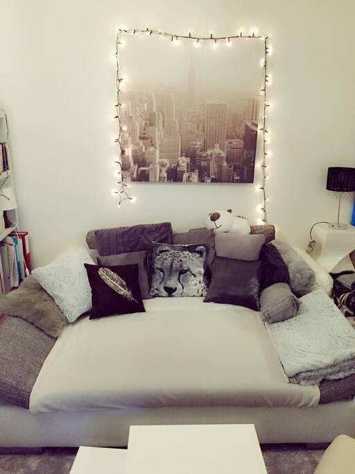 Salon - Canapé-lit (pliable) pour 2 personnes supplémentaires