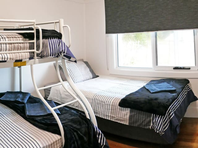 Double bed. King single. Single bunk.