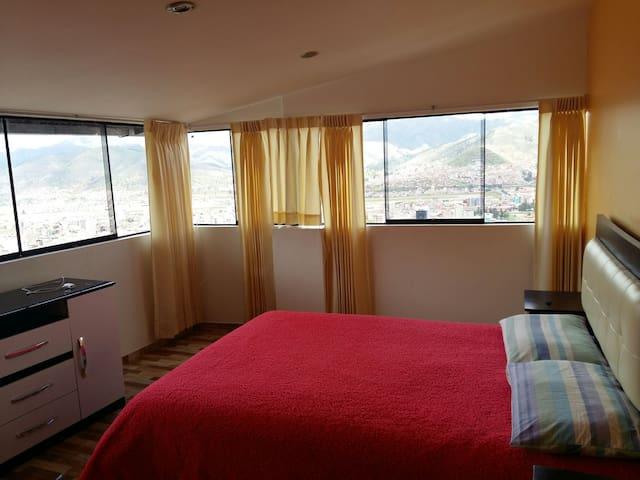 DORMITORIO DE 15m2, VISTA PANORÁMICA. - Cusco - Apartment