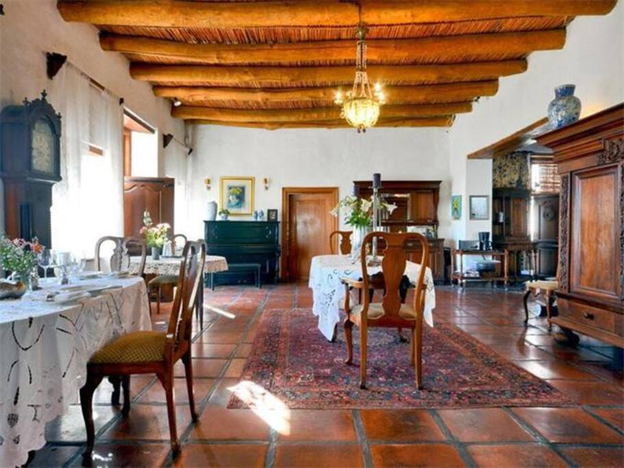 Old Cape Dutch Family Room with huge fireplace, also nice in winter with a glass of wine.