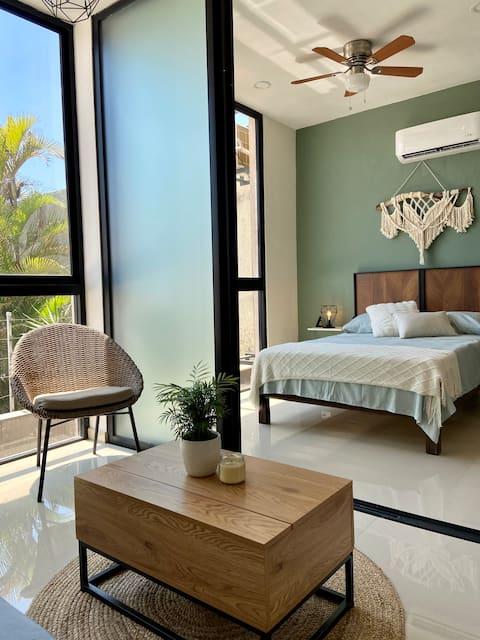 Hermoso loft con alberca, a 2 cuadras de la playa.