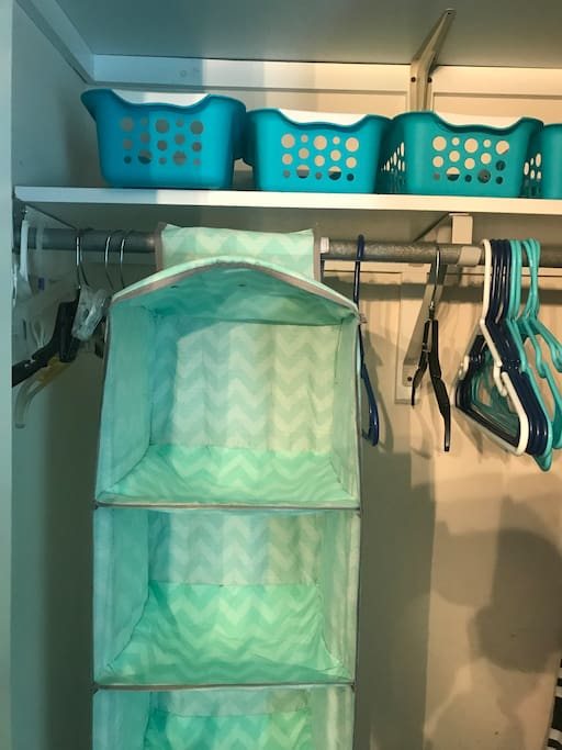 Closet  with organizers