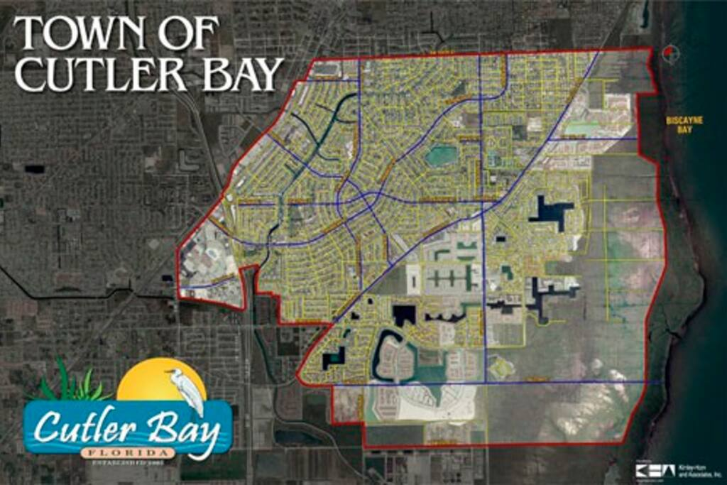 Map of Cutler Bay area