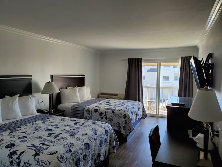 Ocean Surf Inn — Oceanview Double Queen Bedroom