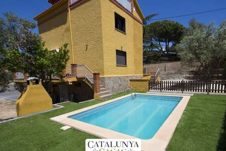 Superb Airesol C villa for 8-9 guests with a private, secure pool and gorgeous mountain views - Barcelona Region