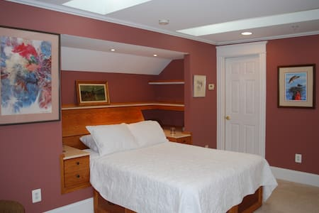 Osprey Nest Room, Large, Bright with skylights and dormers