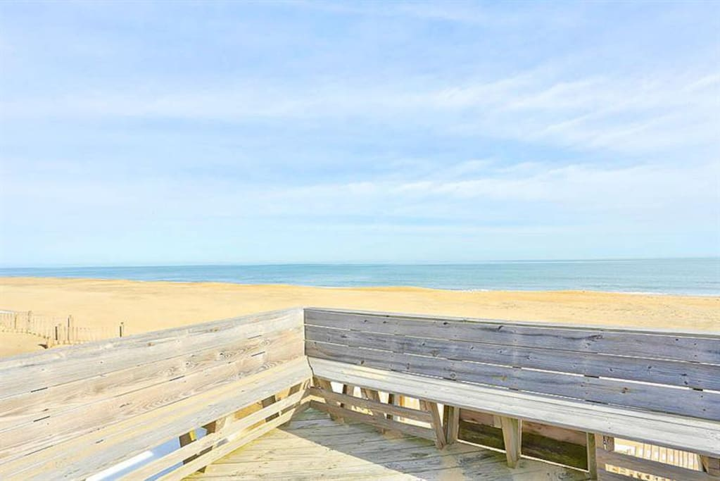 Enjoy beautiful ocean views  from the private dune top deck