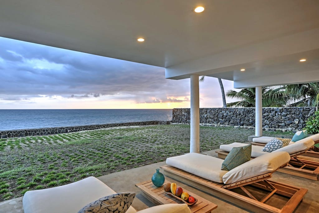 Look forward to lounging on the spacious covered patio while watching the spectacular sunset.