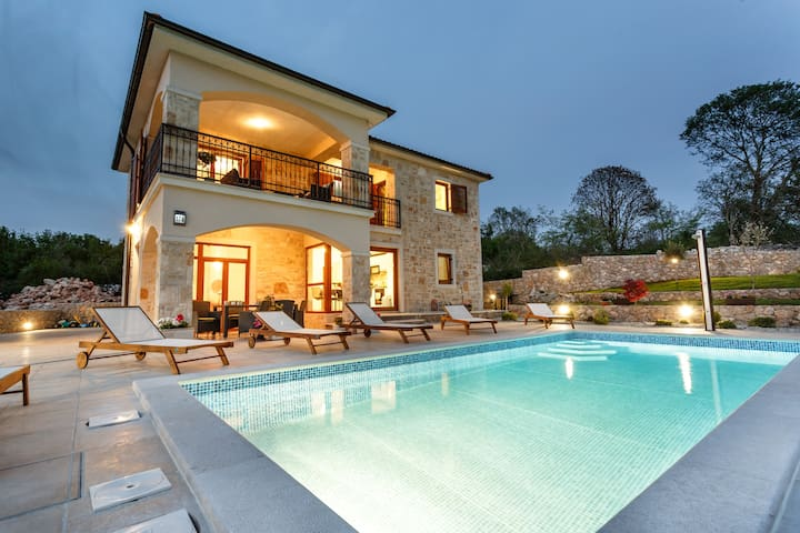 Beautiful stone villa with private pool