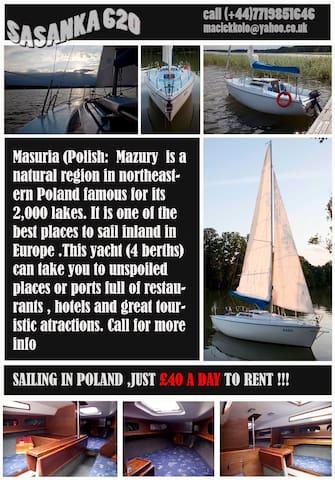 Yacht Sasanka for 4  - Ruciane nida - Kapal