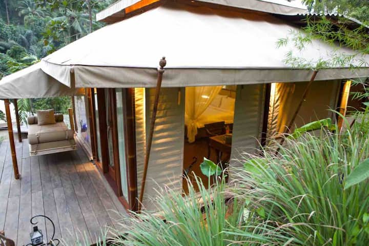 Selako Suite Real bali glamping by the waterfall