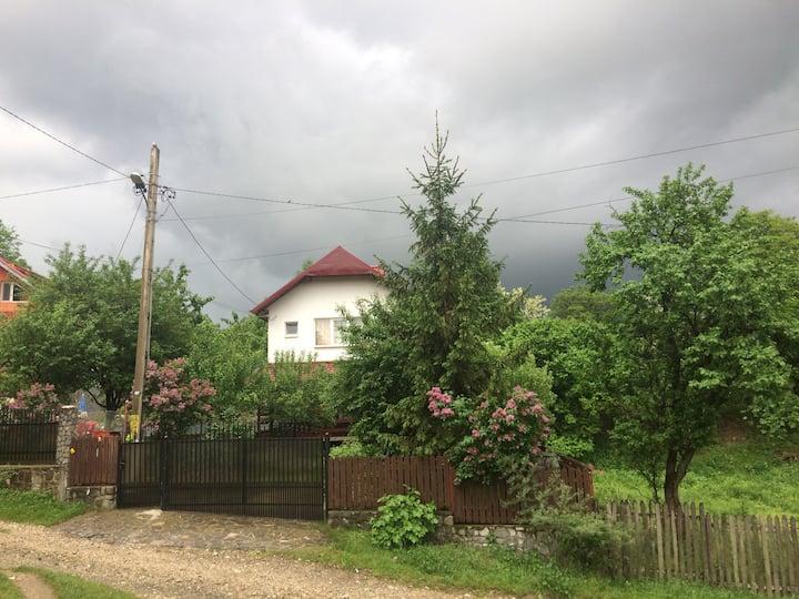 Rural house with garden