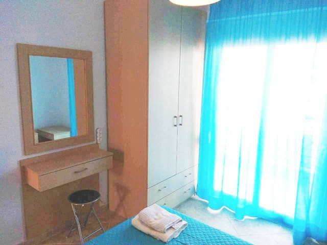 Room 1: Eastern orientation, bright mornings, cool afternoons. Double wardrobe, dressing table. Access to backside balcony for laundry.