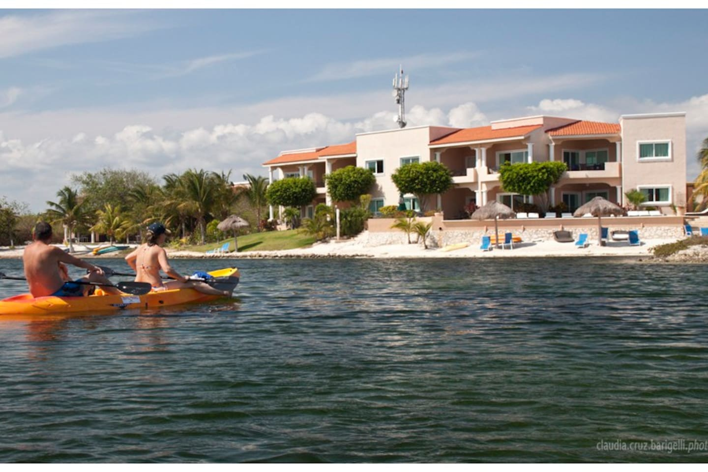 Kayak to your private condo