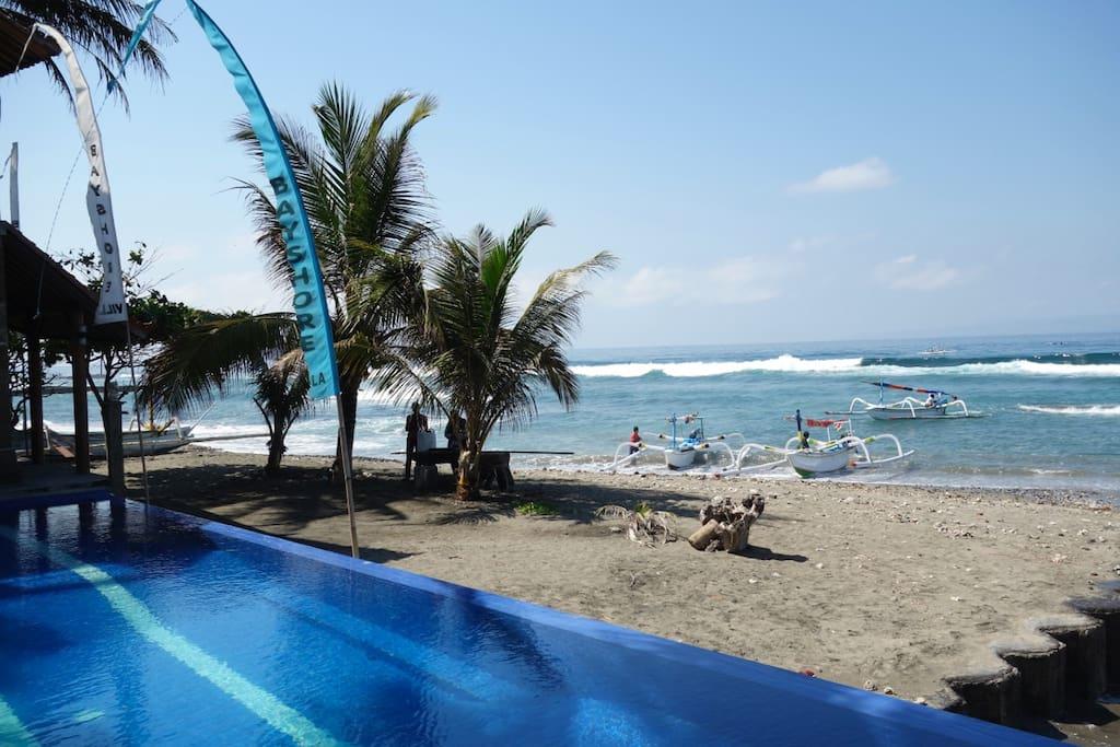 Oceanfront Villa - Candidasa, Bali.