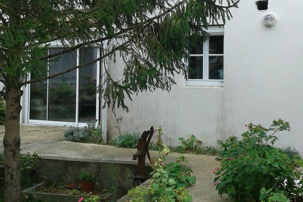 Accès jardin et véranda