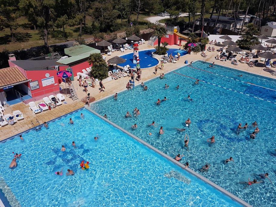 Vue aérienne piscine 2