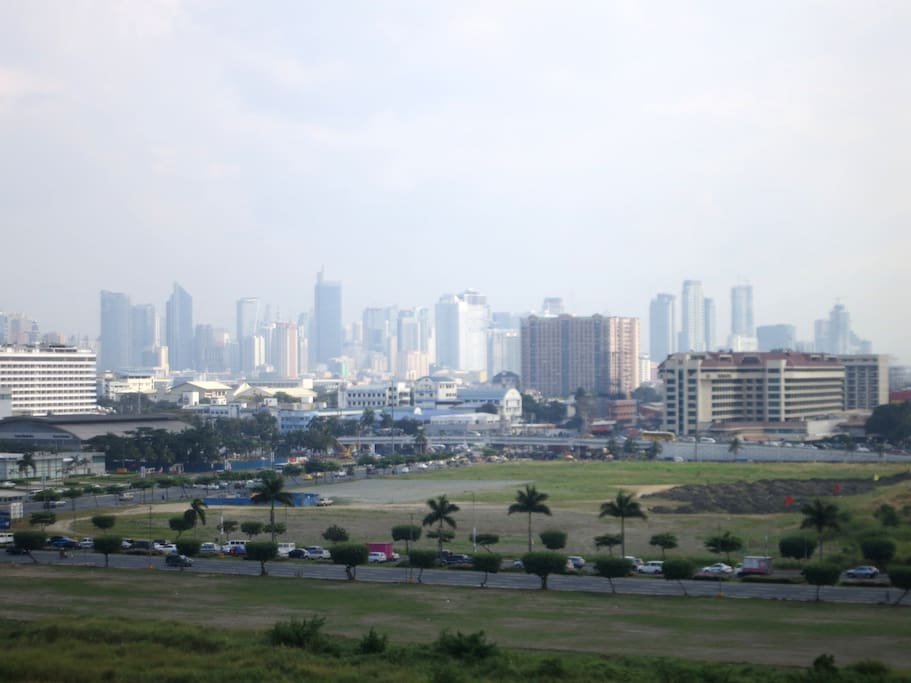 View of Makati Skyline from the unit.