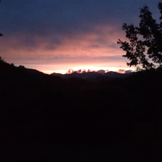 Enjoy western mountain sunsets
