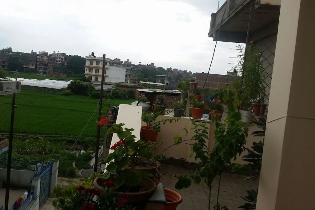 Common balcony at Saras Home