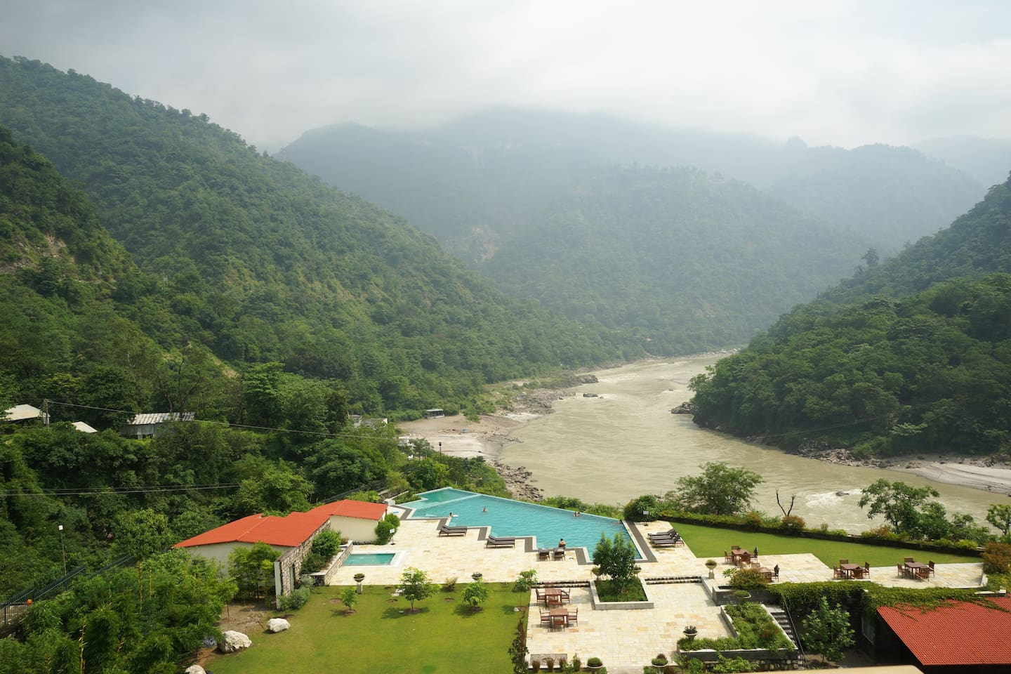 Beautiful view of Pristine Ganges river