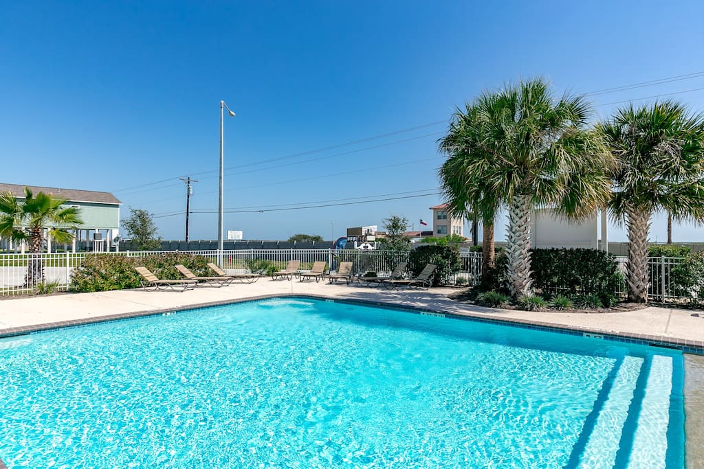 If you need a break from the beach, come take a dip in our sparkling pool