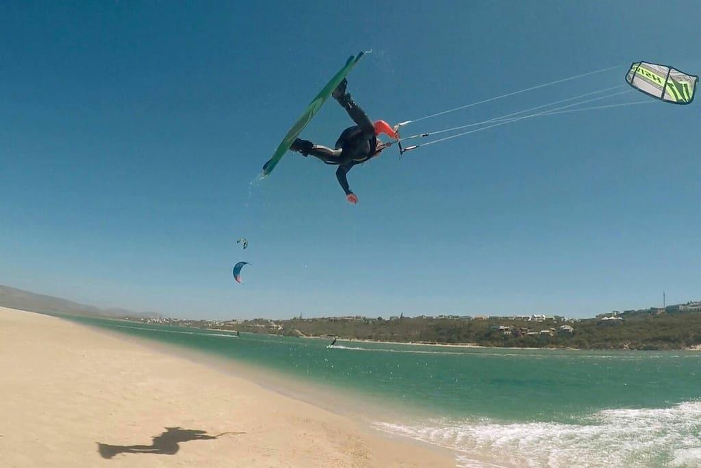 Ideal for kitesurfers