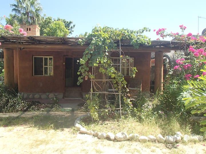 Eco-retreat. Comfy cob (clay, sand, straw) casita.