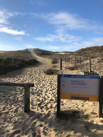 Cap Ferret à 10 mn à pied de la plage de l'horizon