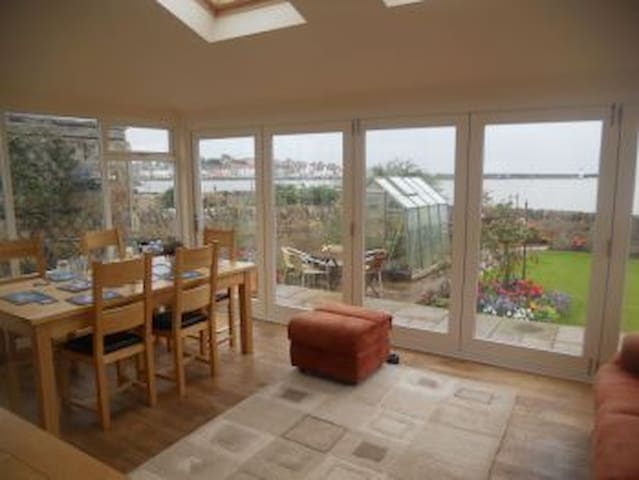 Our sun room and dinning room