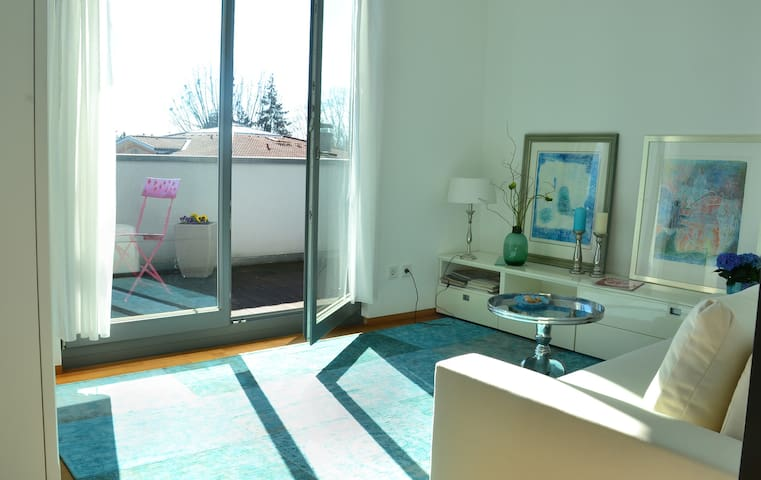 Schönes Zimmer mit Balkon/Bergsicht - Lindau (Bodensee) - House
