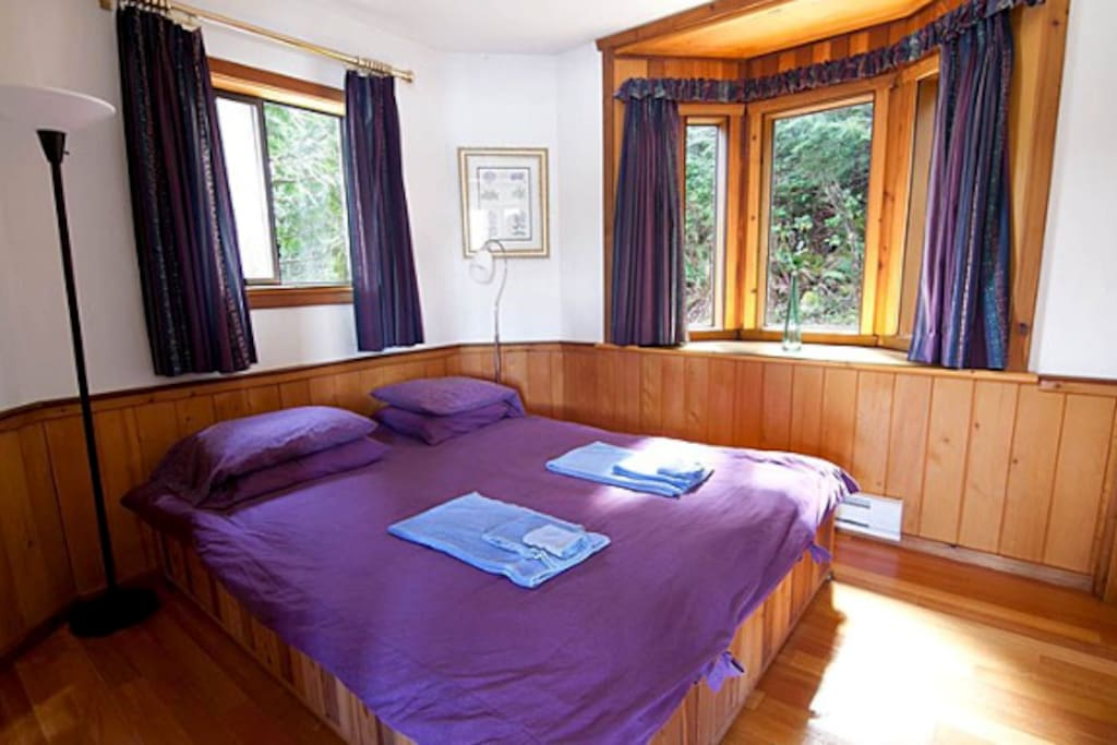 A comfy bed for you to relax in after a day enjoying the amenities and scenery